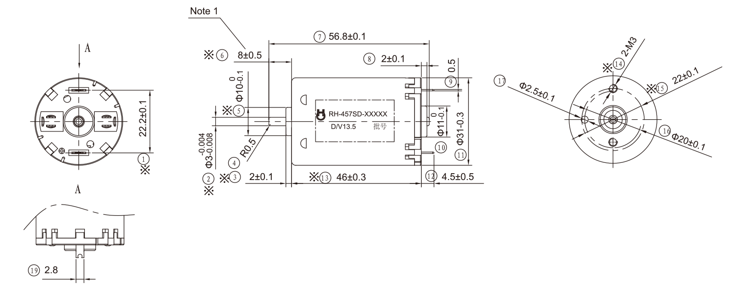 DC-Motor_RH-457_Outline-drawing